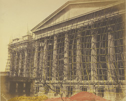 The fever hospital with bamboo scaffolding (when building), Calcutta